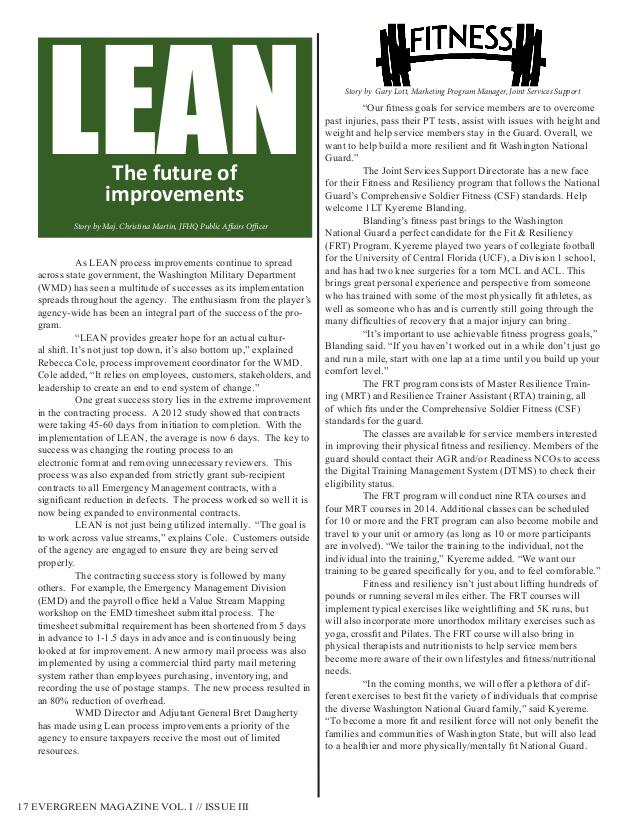 Washington Military Department Evergreen Magazine - Vol. 1 Iss. 3