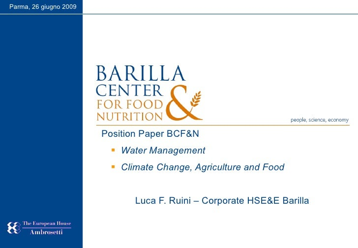 NutritionCamp. Water management and climate change - Luca Ruini