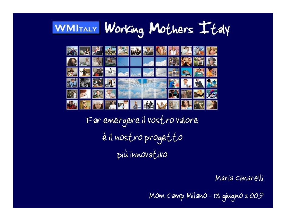 Working Mothers Italy al MomCamp