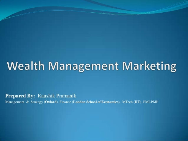 Wealth Management Marketing High Level Operational View