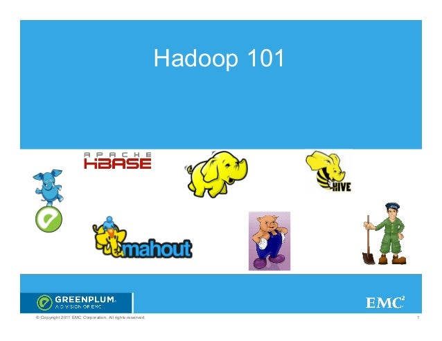 Hadoop 101© Copyright 2011 EMC Corporation. All rights reserved.                1