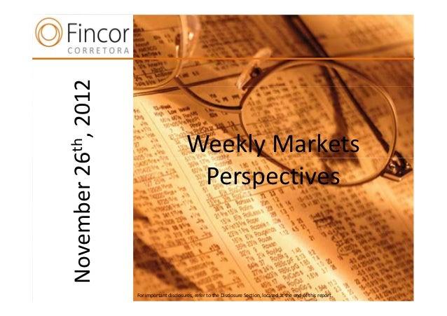 2012  th,                                  Weekly Markets26  n                                PerspectivesNovember        ...