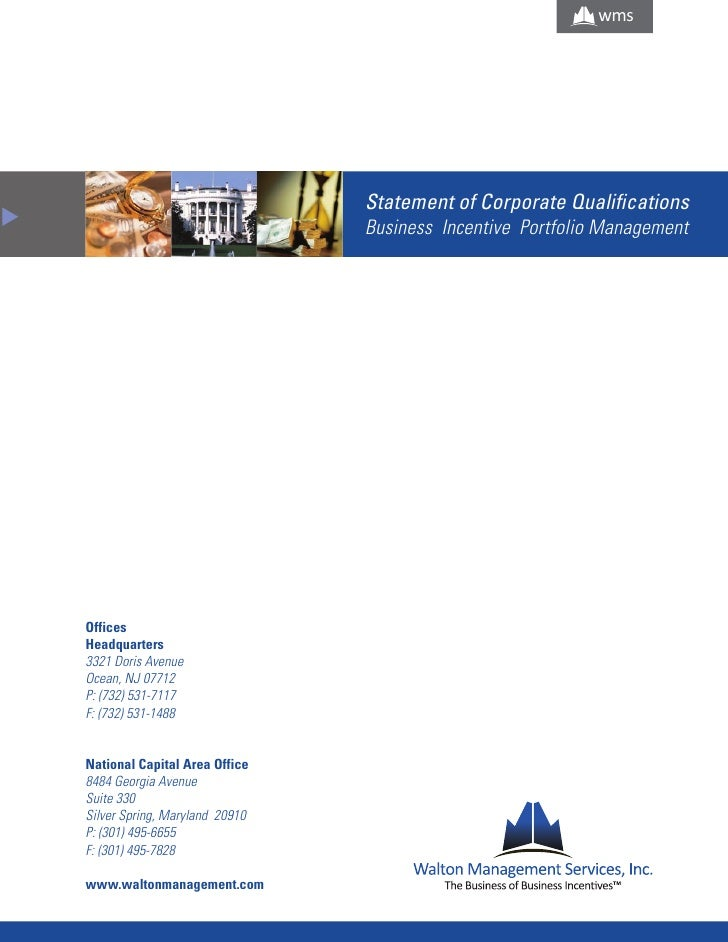 wms                                         Statement of Corporate Qualifications M                                       ...