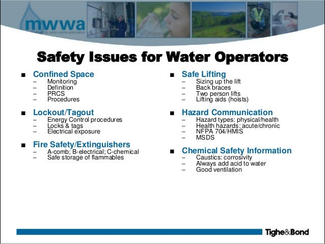Safety For Water Treatment Plant Facilities