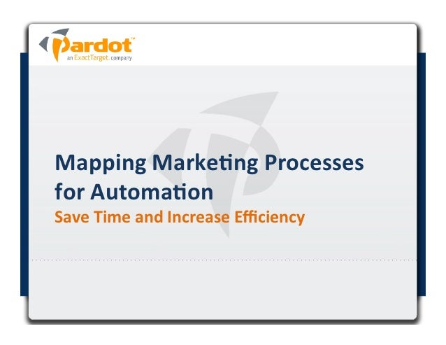 Mapping Marke+ng Processes for Automa+on  Save Time and Increase Efficiency