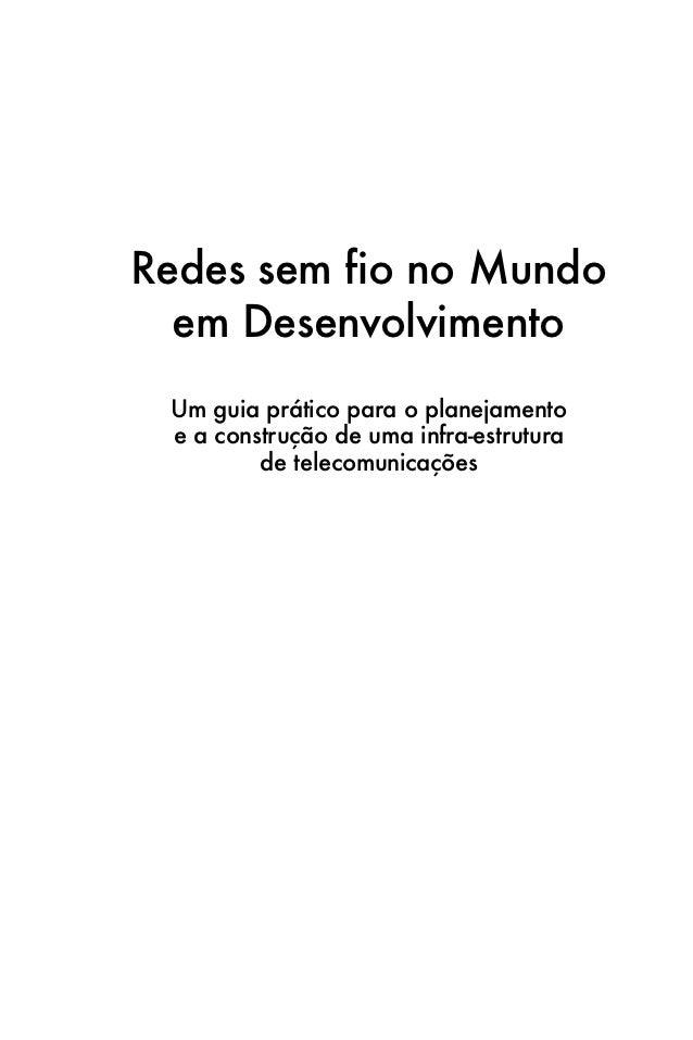 REDES SEM FIO NO MUNDO EM DESENVOLVIMENTO