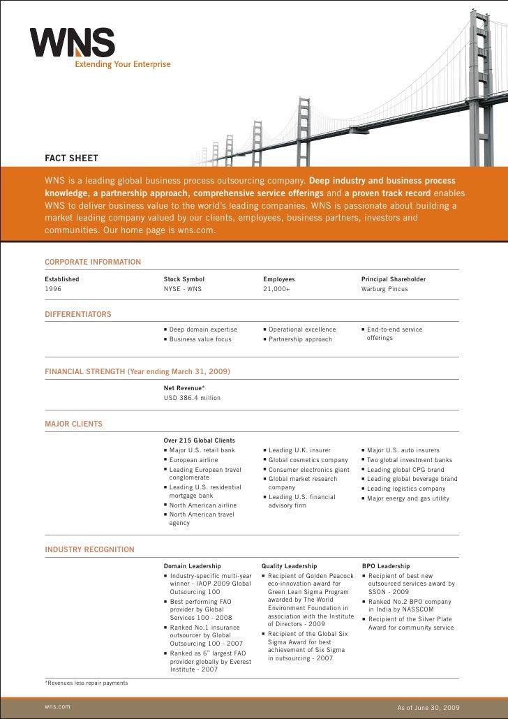 WNS Factsheet