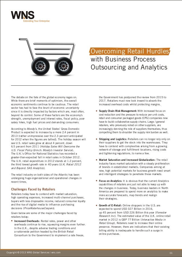 Overcoming Retail Hurdles with Business Process Outsourcing and Analytics
