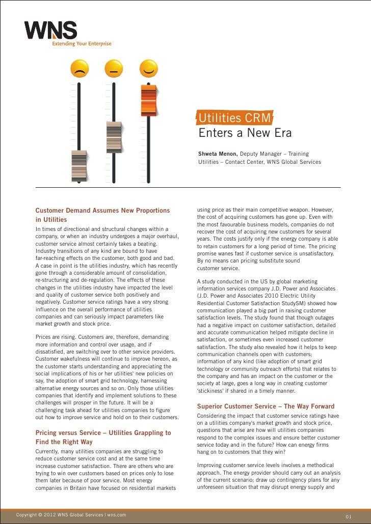 Utilities CRM                                                                        Enters a New Era                     ...