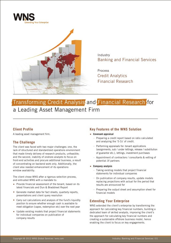 Transforming Credit Analysis and Financial Research for a Leading Asset Management Firm