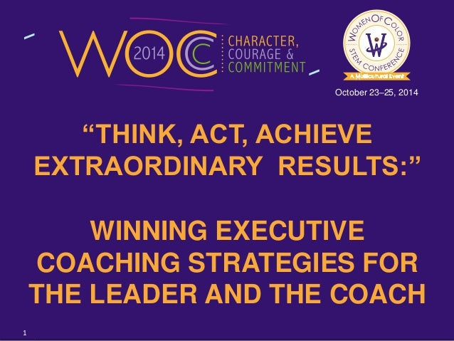 Think, Act, Achieve Extraordinary Results: Winning ...