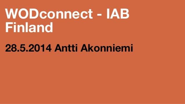 WODconnect marketing talk at IAB event