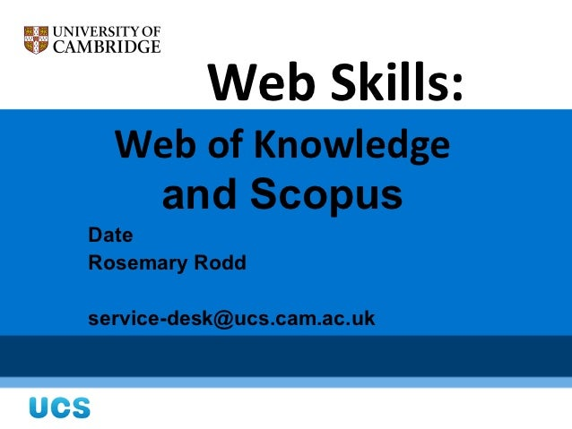Webskills for Researchers