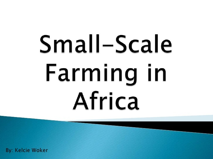 Small-Scale Farming in Africa