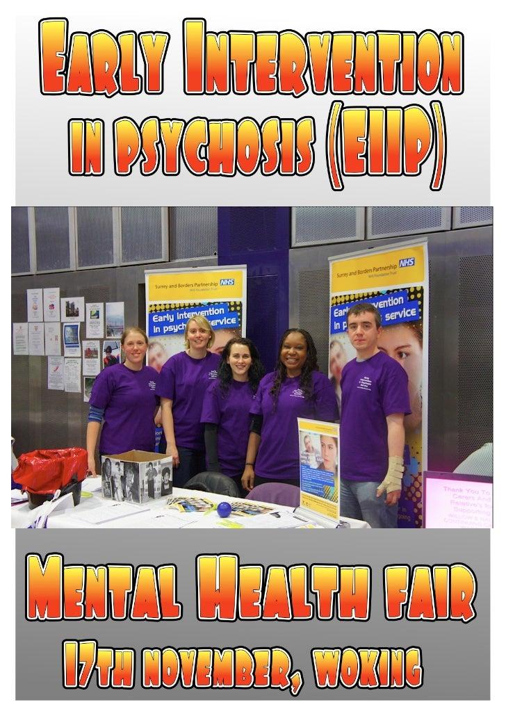 Health Promotion @ Mental Health Fair
