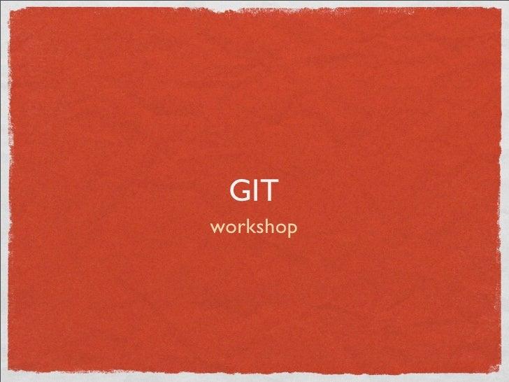 Wokshop de Git