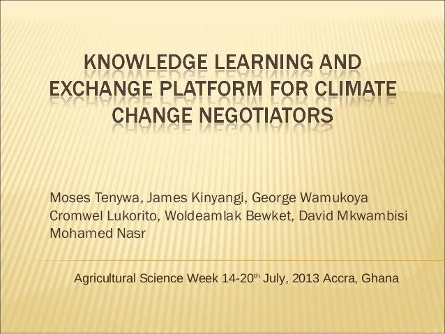 Moses Tenywa, James Kinyangi, George Wamukoya Cromwel Lukorito, Woldeamlak Bewket, David Mkwambisi Mohamed Nasr Agricultur...