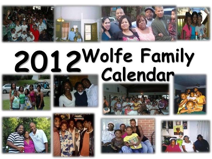 Wolfe family calendar