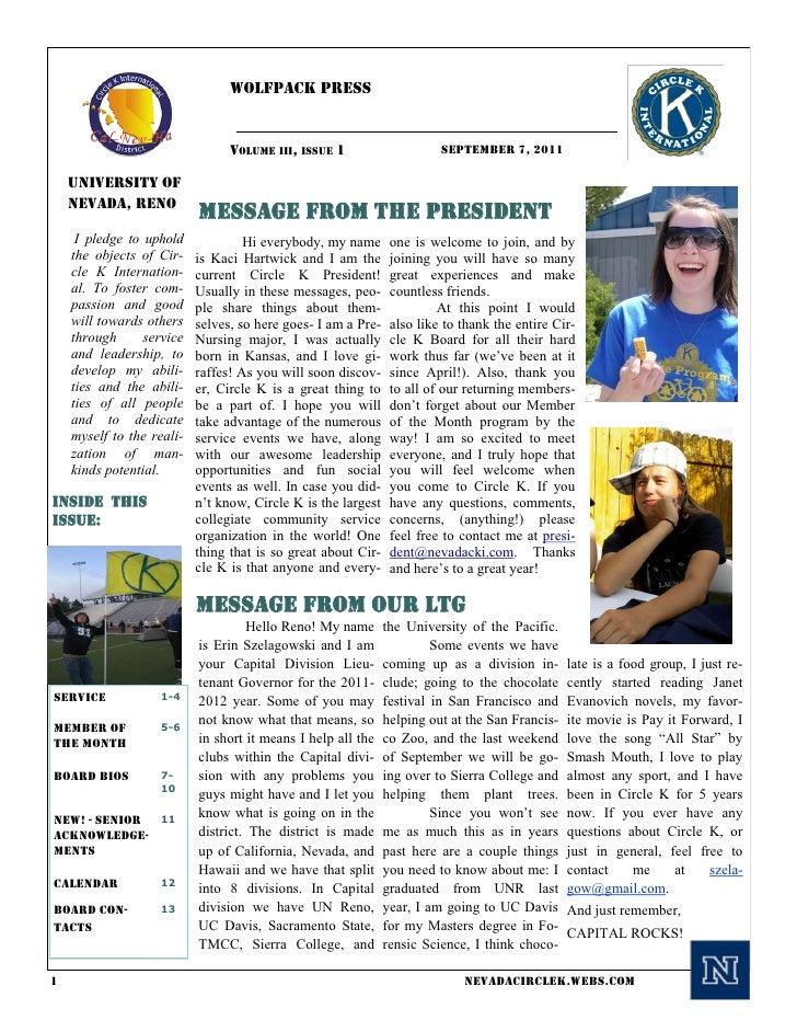 Wolfpack Press                                 VOLUME III, ISSUE 1                     SEPTEMBER 7, 2011    University of ...