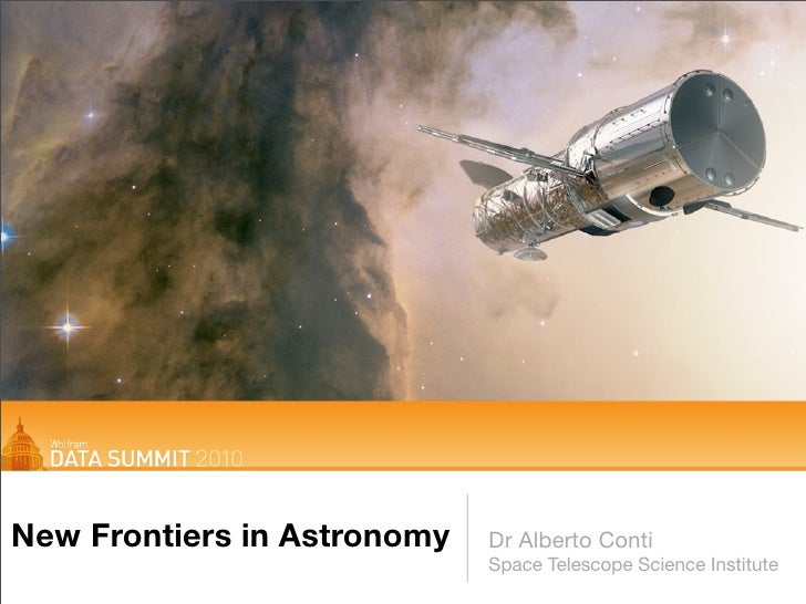 Wolfram Data Summit: New Frontiers in Astronomy