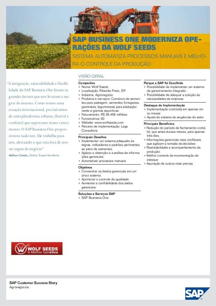 SAP Business One moderniza ope-                                            rações da Wolf Seeds                           ...