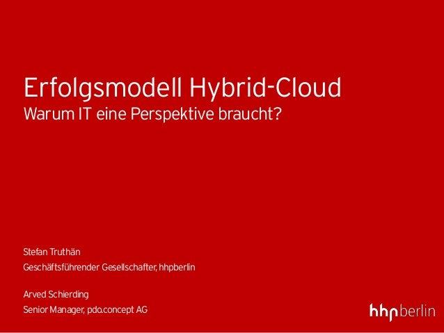 Erfolgsmodell Hybrid-CloudWarum IT eine Perspektive braucht?StefanTruthänGeschäftsführenderGesellschafter,hhpberlinArvedSc...