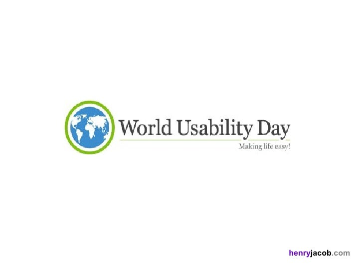 World Usability Day 2010