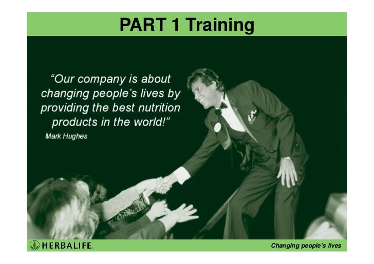 PART 1 Training                       Changing people's lives