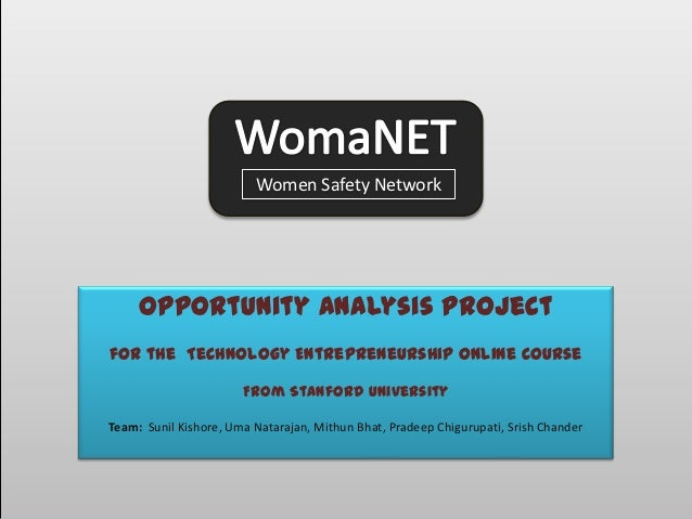 Opportunity Analysis Project                         Women Safety Network     Opportunity Analysis Projectfor the Technolo...