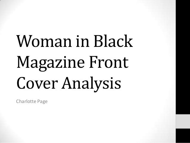 Woman in BlackMagazine FrontCover AnalysisCharlotte Page
