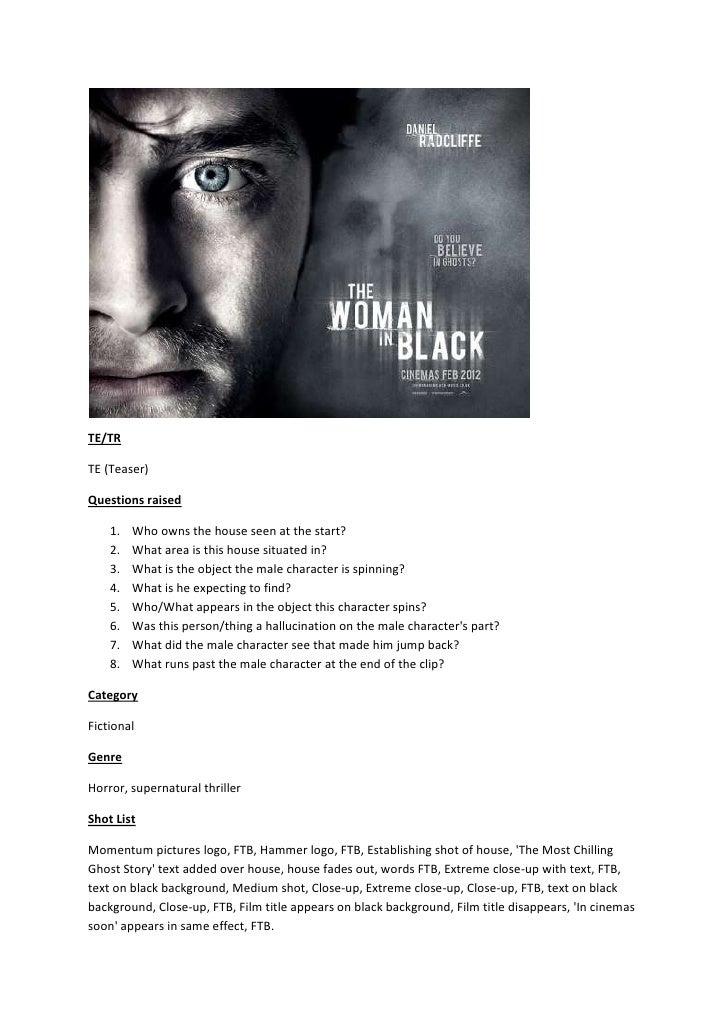 Woman in black teaser analysis