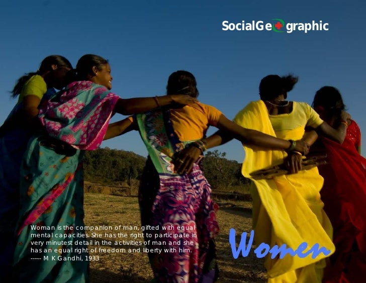SocialGe   graphic     Woman is the companion of man, gifted with equal mental capacities. She has the right to participat...