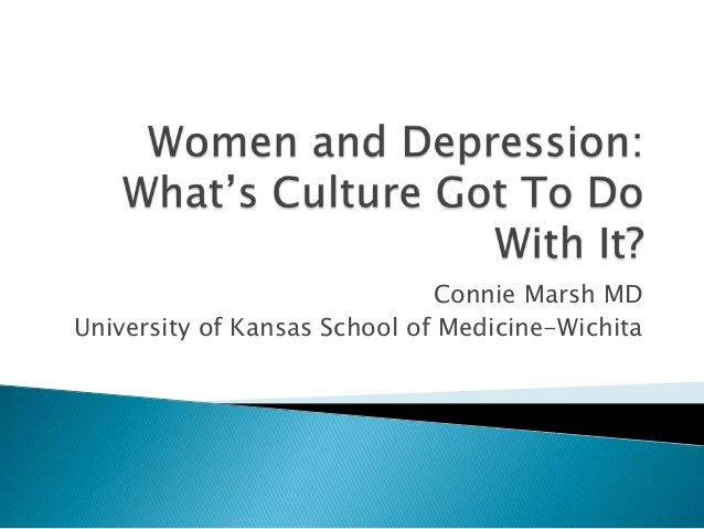 Women and depression and culture