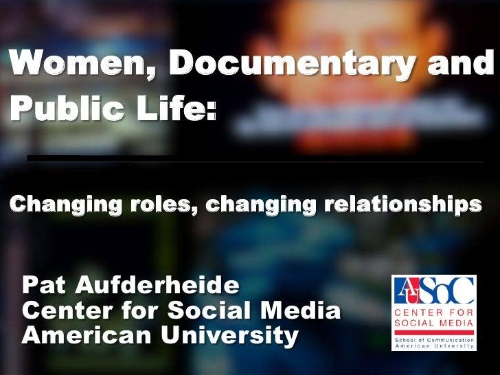Women and documentary