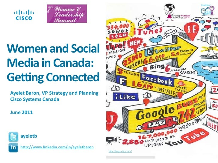 Women and Social Media in Canada: Getting Connected<br />Ayelet Baron, VP Strategy and Planning<br />Cisco Systems Canada<...