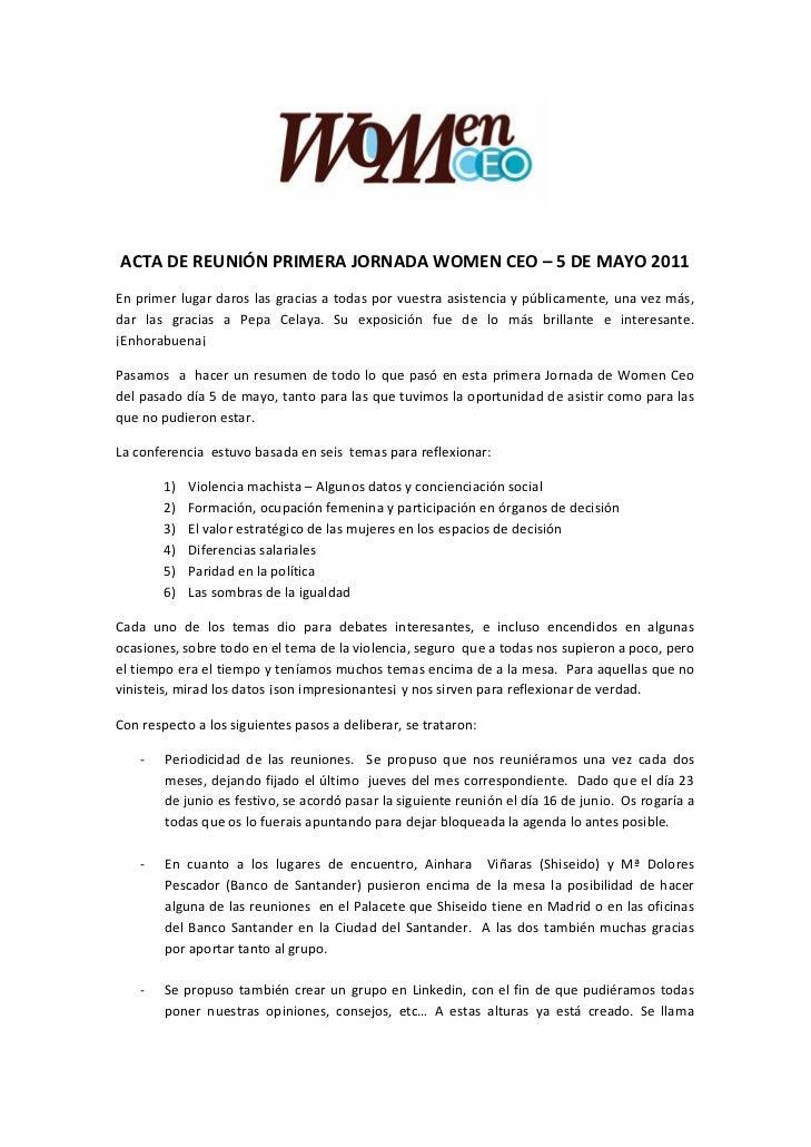Women_Ceo_Acta reunión_5.5.11