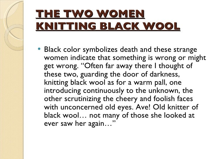 Knitting Women Heart Of Darkness : Women characters in the heart of darkness