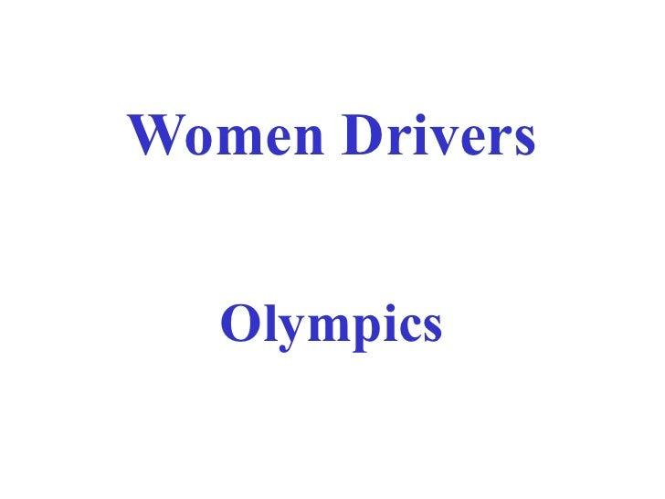Women driving olympics