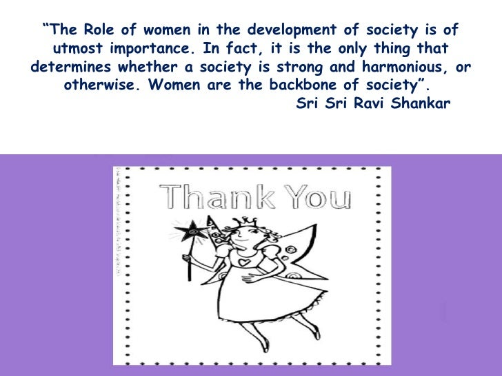 Essays on role of women in society