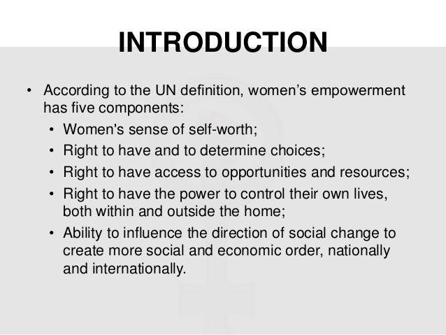 Women empowerment essay ppt