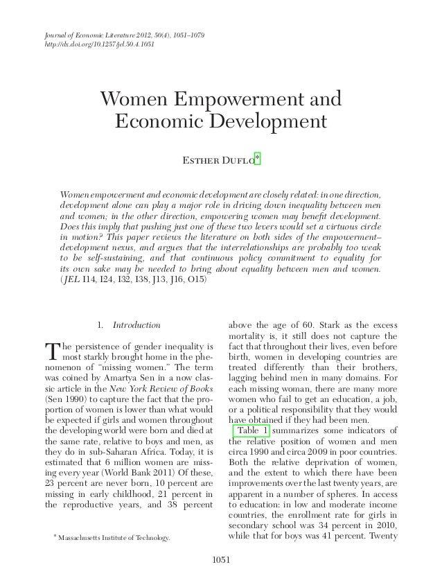 Women empowerment economic_development