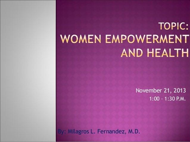 Women empowerment and health