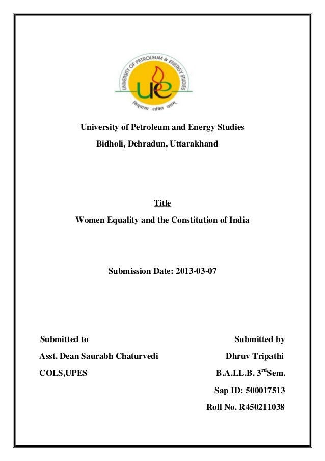 Women equality and the constitution of india