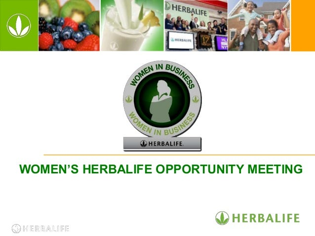 WOMEN'S HERBALIFE OPPORTUNITY MEETING