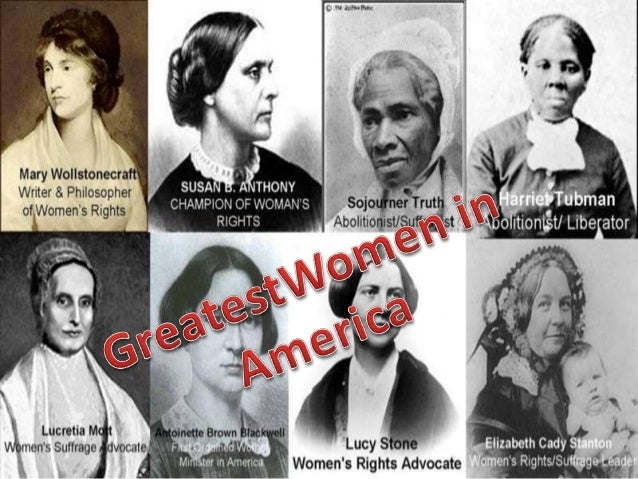 American women's history has been full of pioneers women who fought for their rights ,worked hard to be treated equally an...