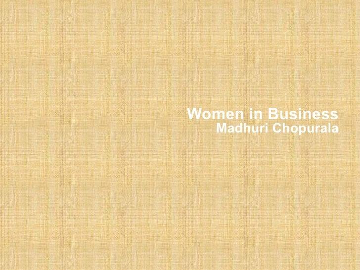 Women in Business Madhuri Chopurala