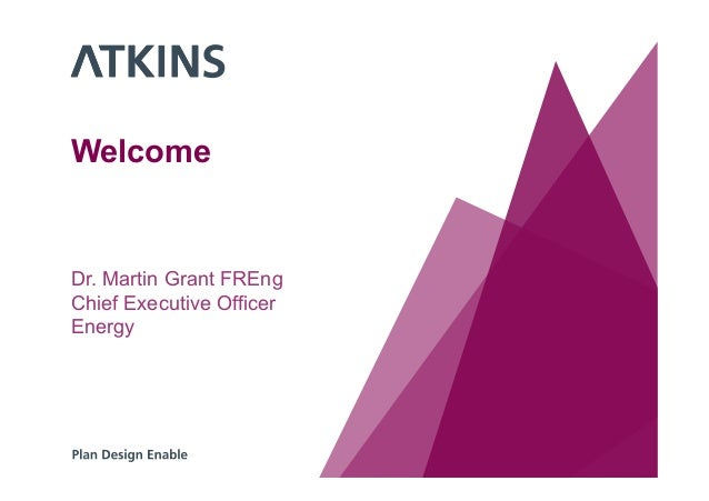 Welcome Dr. Martin Grant FREng Chief Executive Officer Energy