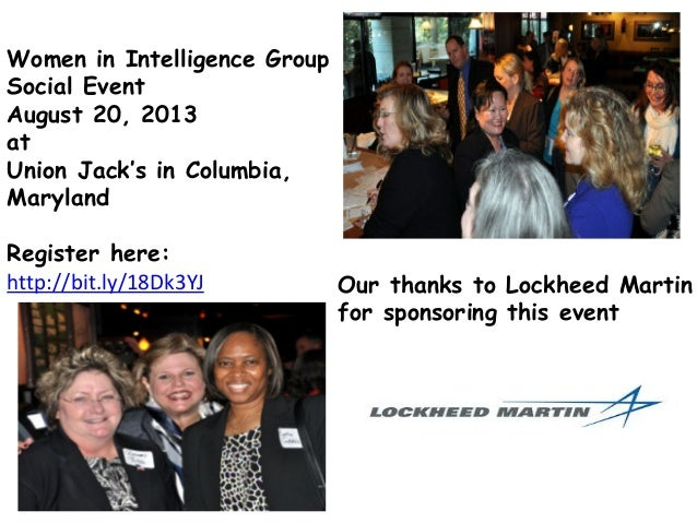 Women in Intelligence Group Social Event August 20, 2013 at Union Jack's in Columbia, Maryland Register here: http://bit.l...