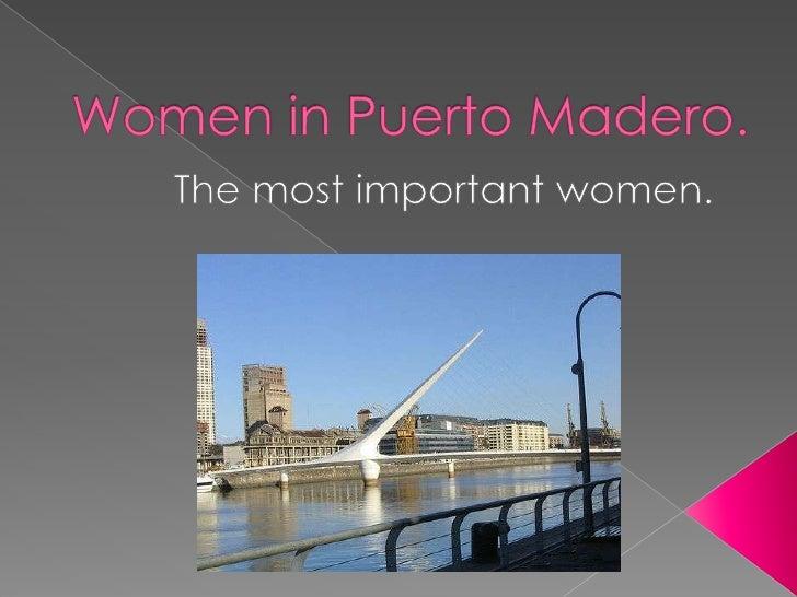 Women in puerto madero