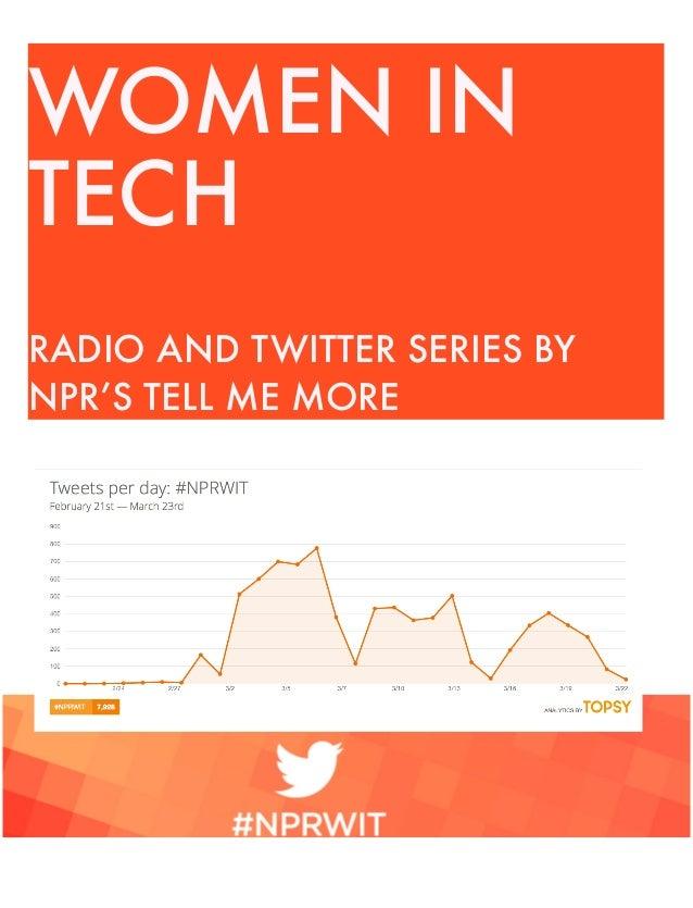Women in tech #SocialStorytelling